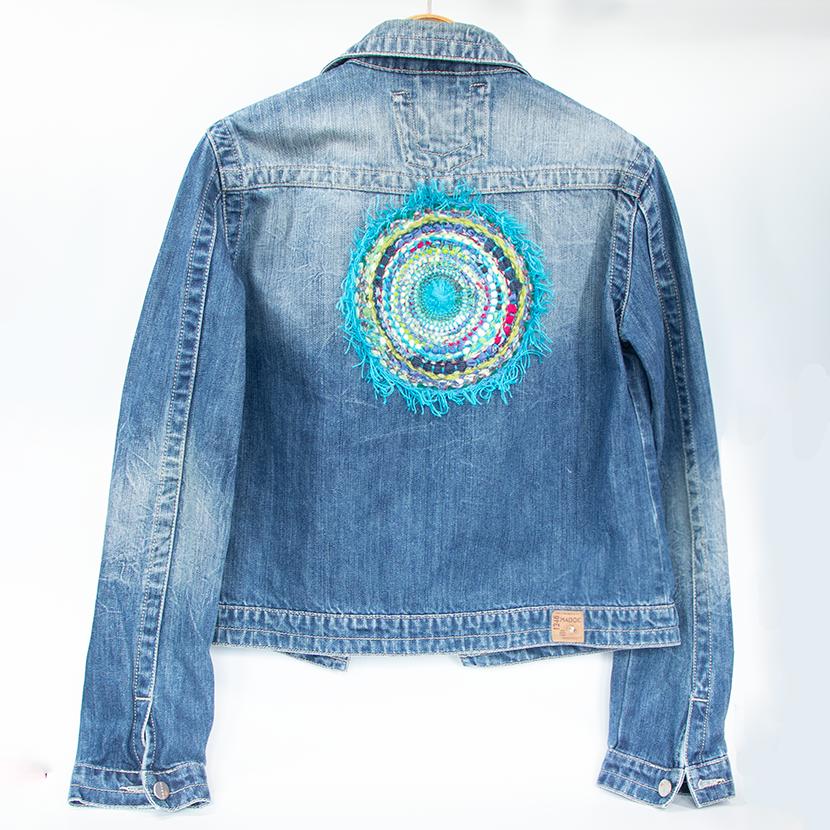 mandala denim jacket